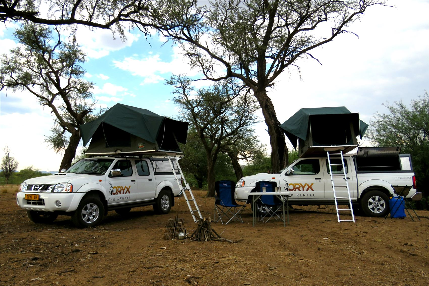 Two 4x4, two with tent